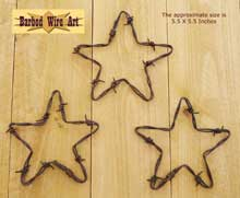 3 Small Stars ~ Rodeo Wall Hanging Decor