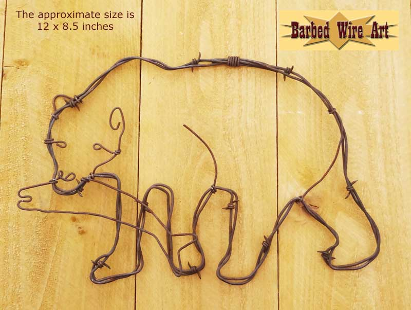 Barbed Wire Art ~ Country Cowboy Horse Farm and Ranch Decor ...
