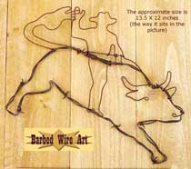 Bucking Bull Rider ~ Rodeo Wall Hanging Decor