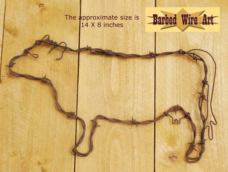 Barbed Wire Art ~ Country Cowboy Horse Farm and Ranch Decor - Farm ...