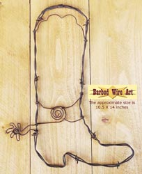 Cowboy Boot ~ Rodeo Wall Hanging Decor