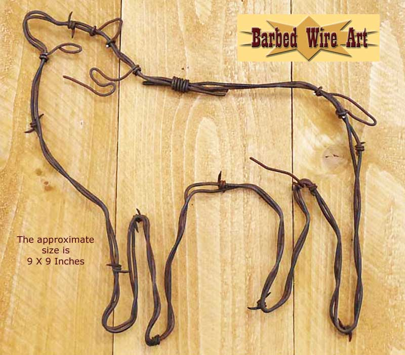 Barbed wire art country cowboy horse farm and ranch