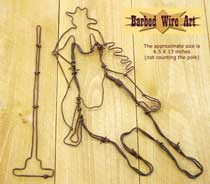 Pole Bender ~ Country Folk Art